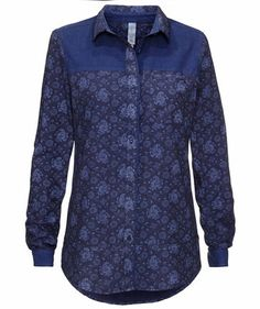 Retro Blouse by Campus #blue #fashion #trends