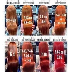 Ginger Hair Color, Red Hair Color, Ash Blonde Hair, Blue Hair, Igora Hair Color, Hair Color Names, Shades Of Red Hair, Hair Color Formulas, Hair Color Techniques