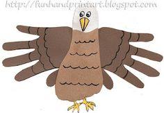 Handprint and Footprint Arts  Crafts: Hand  Footprint Eagle Craft