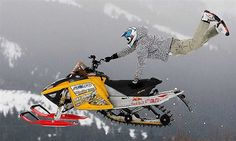 Snowmobile Just like in moto cross, instead of dirt/motorcycle it's snowmobile/snow