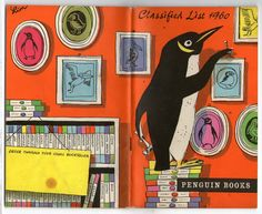 michaelmoonsbookshop: A very nice bright colourful Penguin Books classified list from 1960 - a rare survivor