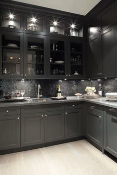 All black kitchen.
