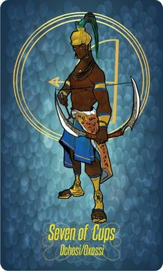 Oxóssi African Culture, African Art, Yoruba Orishas, African Mythology, Traditional Stories, Black Anime Characters, Afro Art, Gods And Goddesses, Ancient History