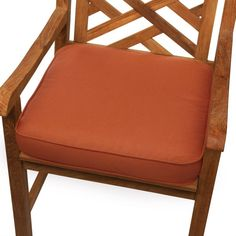Mozaic Company Sunbrella Solid Corded Outdoor Chair Cushion Canvas Iris - HNCS2912