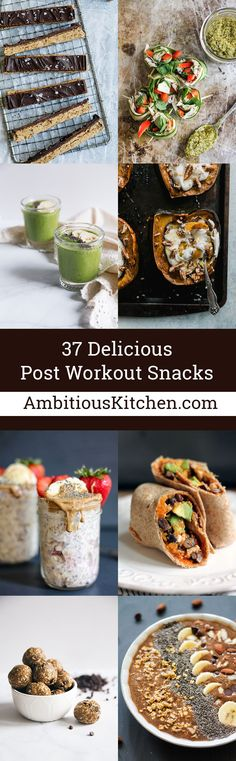 Look forward to your workouts with these 37 healthy, delicious post workout snacks! Each one has plenty of protein to fill you up and refuel your muscles.