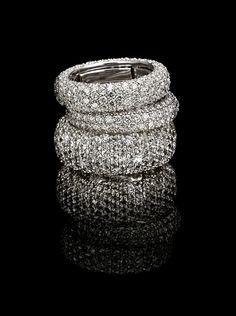 #Diamond Encrusted Vari-size Pavé Eternity Rings #Handcrafted