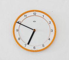 Original BRAUN abk 30 quartz wall clock Dietrich LUBS Dieter
