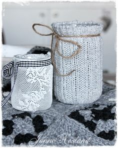 make a jar from your old socks