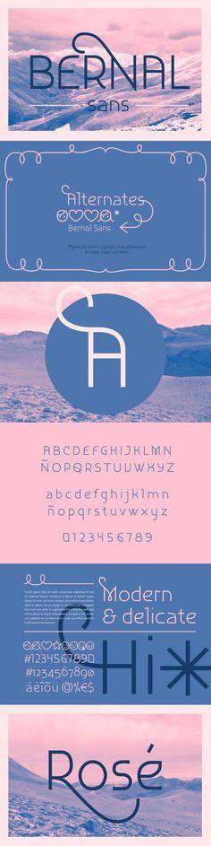 Bernal Sans. Display Fonts. $15.00