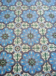 8m2 antique ceramic floor - stunning detail and colours. - The Antique Floor Company