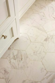 Octagonal marble tile. Perfect for a bathroom!