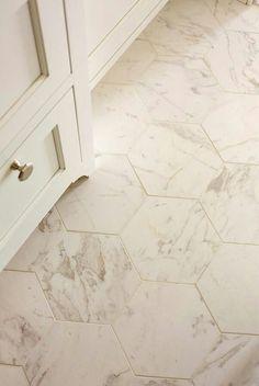Octagonal marble til