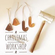 DIY workshop this Christmas! Make your own leather gift tags and Christmas decorations. November 27th at Brick and Mortar Creative Retail Hub, Norwood, SA.  Visit www.bethnewton.com for details.  #leather #diy #handmade #workshop #christmas #decoration #gifttags #creative #gift #christmasworkshop #adelaideworkshop Diy Workshop, Make Your Own, How To Make, Leather Gifts, Leather Pieces, Gift Tags, Brick, November, Christmas Decorations