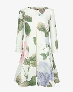 Buy Ted Baker Rafell Distinguishing Rose Coat, Mint from our Women's Coats & Jackets range at John Lewis & Partners. Lace Jacket, Mother Of The Bride Kimonos, Mother Of The Bride Inspiration, Ted Baker, Military Style Coats, Iranian Women Fashion, Womens Fashion, Mom Dress, Outfits
