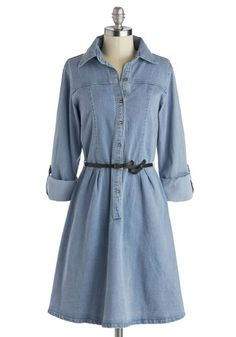 Favorite Rendition Dress, #ModCloth I'm in love with a denim dress, never thought I'd say that! <3