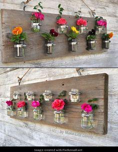 DIY-Home-Decor: Baby food jar Vases