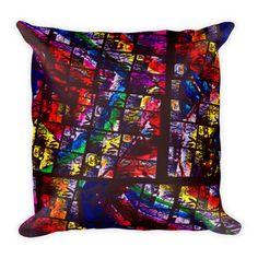 NY Chapel Glass Throw Pillow