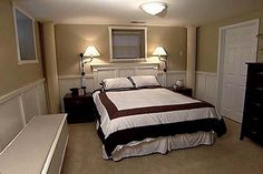 Basement Bedroom Ideas Luxurious Mobile Home Redo, Mobile Home Makeovers, Mobile Home Decorating, Mobile Home Repair, Mobile Home Living, Basement Master Bedroom, Bedroom Wall, Master Bedrooms, Basement Apartment