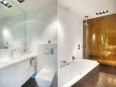 bathtub, shower and sauna