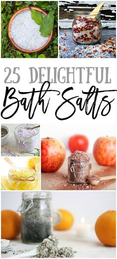 Need a relaxing soak in the tub? Me too and htese 25 Delightful Bath Salts are the perfect (and quick!) DIY for it!