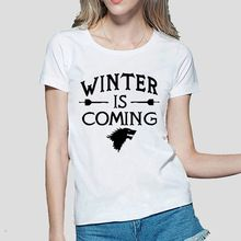 Winter Is Coming Printed Game of Thrones women T Shirt summer Casual cotton Tops tees fashion harajuku brand female punk t-shirt(China (Mainland))