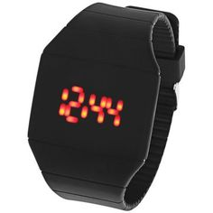 Men Women Ultral Thin Red LED Digital Touch Screen Rectangle Dial Rubber Band Sport Watch //SALEPRICE% & FREE Shipping //