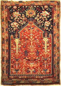 Rare Turkish Oushak Meditation Piece Circa 1800s 4'8″ x 6'6″