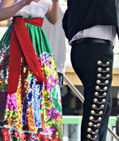 Mariachi--my skirt was blue.