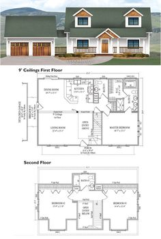 House plans with detached garage breezeway 300 225 Modern breezeway house plans