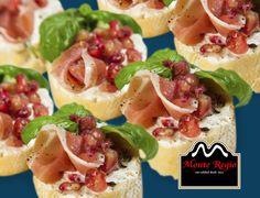 Tapa de jamón serrano #MonteRegio con granadina ¿aún no lo has probado? ¡De 10!