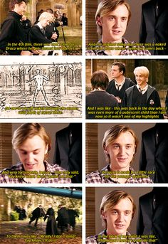 we coulda seen naked Tom Felton booty? *pouts* not fair.