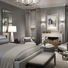 Traditional Bedroom Designed By Michael Abrams Limited.   Photo Courtesy Of  Michael Abrams Limited.