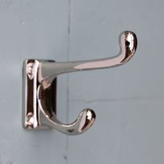 Polished Nickel Double Coat Hook