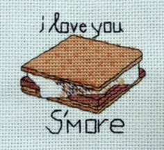 Cross Stitch Patterns for the Camping Enthusiast: Mmmm....Smores