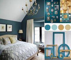 19 meilleures images du tableau chambre déco bleu canard et jaune ...
