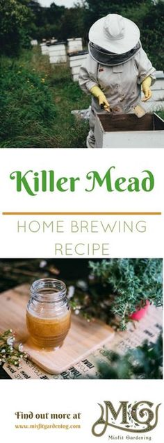 Homebrewing mead How to Make Mead Homebrew Recipe: Killer Mead - Mi. - Homebrewing mead How to Make Mead Homebrew Recipe: Killer Mead – Misfit Gardening - Brewing Recipes, Homebrew Recipes, Wine Recipes, Fermentation Recipes, Coffee Recipes, Beer Brewing, Home Brewing, How To Make Mead, Mead Recipe