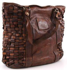 Campomaggi Intrecciata Tote Leather cognac 42 cm - C1266VL-1702 | Designer Brands :: wardow.com