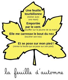 La Feuille d'Automne | Comptine PS | Maternelle de Bambou French Poems, Preschool Writing, Teaching French, Kids Songs, Vignettes, Montessori, Halloween, Activities For Kids, Homeschool