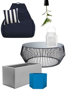 Lujo Designer Outdoor Furniture | Inspired by our Indigo-coloured beanbag chair, we've styled this sophisticated outdoor space. See all our picks here: http://lujo.co.nz/blogs/lujo-inspiration-blog/11530073-lujo-living-space-a-contemporary-outdoor-room