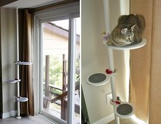 Ikea Hack Cat - Climbing Pole - DIY Cat Climbing Shelves