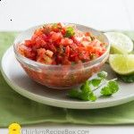 Recipe for simple and easy fresh salsa using fresh tomatoes, cilantro, lime juice and chili peppers. May salsa recipes use canning tomatoes but this is fresh.