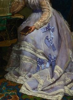Art detail of historical dress