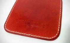 Reversible Handmade Leather Coaster by ThomasJamesLeather on Etsy