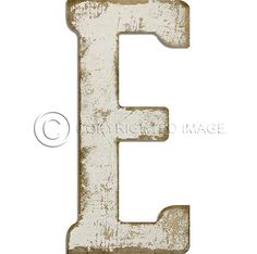 Letter A Black Cutout  Vintage Distressed Letter Decor