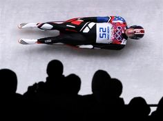 DAY 2:  Tucker West of the United States makes a run during the Luge Men's Singles