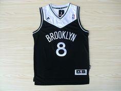 Brooklyn Nets Deron Williams #8 black Jersey