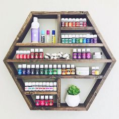 Essential Oils for Babies and Infants, Home Accessories, Large Hexagon Shelf Essential Oil Shelf Geometric Shelf.