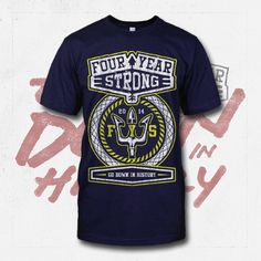 Trident Navy T-Shirt : Four Year Strong