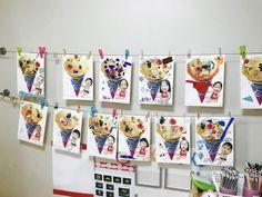 +여름 환경구성 : 베스킨라빈스 아이스크림 꾸미기 7월이 되면서 여름 주제로 활동을 하지요? 벽면 자료로 ... Diy And Crafts, Crafts For Kids, Art Programs, Reggio Emilia, Kidsroom, Classroom Decor, Kids Playing, Art For Kids, Kindergarten