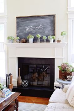 AutumnMantel thumb Simple Fall Mantel & Thoughts on Decorating